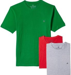 Ruggers Men's Cotton T-Shirts (Pack of 3)