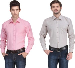 Ausy Men's Solid Casual Shirt