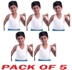 Dollar Junior Sleeveless Vests - Pack of 5