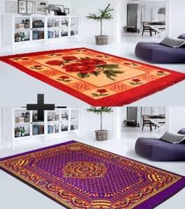 HomeZaara Traditional Carpet Combo