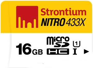 Strontium 16GB Nitro UHS1 65MB/S MSD Card 433X-Single Packing
