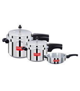 Surya Accent - ISI - Aluminium Pressure Cooker (Set Of 3)
