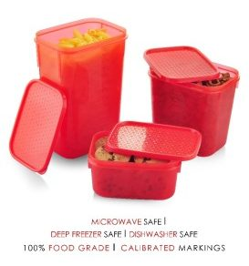 All Time Polka 3 Pcs Container Set - Red