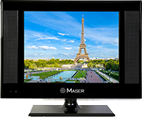 Maser 17 Inches HD Led Television with 1 X USB & 1 HDMI (Black)
