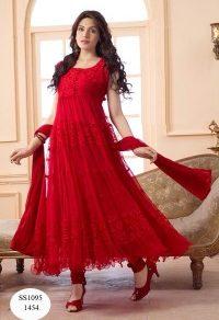 Varanga Net Brasso Dress Material With Dupatta