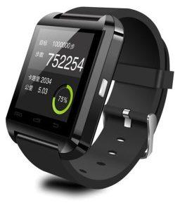 Velocity Black Silicon Smart Wrist Watch