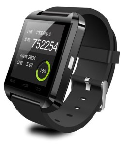 Velocity Black Silicon Smart Wrist Watch