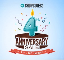 Shopclues 4th Anniversary Sale