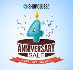 Shopclues 4th Anniversary Sale