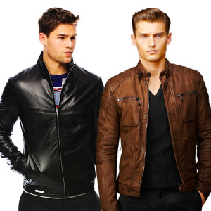 Wrab Men's Full Sleeve Faux Leather Jacket