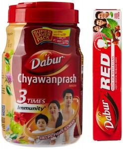 Dabur Chyawanprash Awaleha - 2 kg with Free Dabur Red Tooth Paste - 200 g