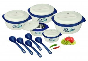 Nayasa Floriana 5 Pieces Casserole Gift Set With 5 Serving Spoons