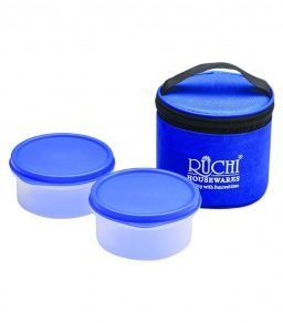 Ruchi Housewares Blue Polypropylene Small Round Tiffin - Set of 2